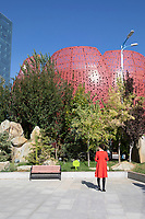 China - Ningxia - Yinchuan - Outdoor view of the building hosting the Ningxia Grape Industry Development Bureau.<br />