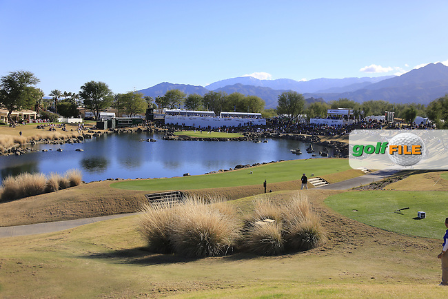 The par3 17th hole during Saturday's Round 3 of the 2017 CareerBuilder Challenge held at PGA West, La Quinta, Palm Springs, California, USA.<br /> 21st January 2017.<br /> Picture: Eoin Clarke   Golffile<br /> <br /> <br /> All photos usage must carry mandatory copyright credit (&copy; Golffile   Eoin Clarke)