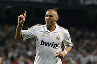2011.09.24 Spain, Santiago Bernabeul, La Liga Machtday 6th Real Madrid vs Rayo Vallecano. Picture show Benzema.