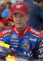May 4, 2007; Richmond, VA, USA; Nascar Busch Series driver Ward Burton (27) during qualifying for the Circuit City 250 at Richmond International Raceway. Mandatory Credit: Mark J. Rebilas
