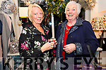 Noirín Uí Rochain and Katherine Flannery at the Coach House Dingle's twinkle Thursday Christmas celebrations.