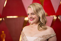 Elizabeth Moss arrives on the red carpet of The 90th Oscars&reg; at the Dolby&reg; Theatre in Hollywood, CA on Sunday, March 4, 2018.<br /> *Editorial Use Only*<br /> CAP/PLF/AMPAS<br /> Supplied by Capital Pictures