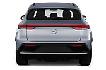 Straight rear view of a 2019 Mercedes Benz EQC AMG-Line 5 Door SUV stock images