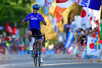 Tatiana Guderzo crosses the finish line during the Women Elite Road Race<br /> Foto Phonews/Panoramic/Insidefoto <br /> ITAY ONLY