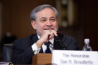 Dan Brouillette testifies before the U.S. Senate Committee on Energy and Natural Resources on Capitol Hill in Washington D.C., U.S., on Thursday, November 14, 2019, as they consider his nomination to be Secretary of Energy.  <br /> <br /> Credit: Stefani Reynolds / CNP/AdMedia