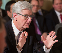 Phil Bryant, Governor of Mississippi participates in a meeting with state and local officials regarding the Trump infrastructure plan, February 12, 2018 at The White House in Washington, DC. <br /> CAP/MPI/CNP/RS<br /> &copy;RS/CNP/MPI/Capital Pictures