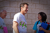 "James Denton, one of the leading stars of ""Desperate Housewives"" was honorary chair of the fourth annual Susan G. Komen Southwest Florida Race for the Cure fundraiser at Coconut Point in Estero. ""I lost my mother to breast cancer six years ago,"" said Denton ""These people are my family now."" Photo by Debi Pittman Wilkey"