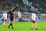 13.01.2018,  Red Bull Arena, Leipzig, GER, 1.FBL, 18.Spieltag, RB Leipzig vs FC Schalke 04, im Bild Naby Keita (RB Leipzig) bekommt gelb / die 5. / fuenfte gelbe Karte / Sperre / gesperrt<br /> <br /> <br /> <br /> <br /> Foto &copy; nordphoto / Schmalfuss