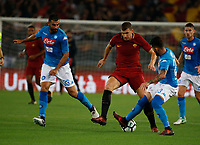 \3\Edin Dzeko  during the  italian serie a soccer match, AS Roma -  SSC Napoli       at  the Stadio Olimpico in Rome  Italy , 14 ottobre 2017