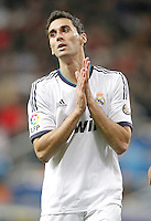 Real Madrid's Alvaro Arbeloa dejected during La Liga match. December 16, 2012. (ALTERPHOTOS/Alvaro Hernandez)