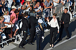 70eme Festival International du Film de Cannes. Montee de la ceremonie de cloture, vues du toit du Palais . 70th International Cannes Film Festival. Vew from rof top of closing red carpet<br /> Haenel, Adele
