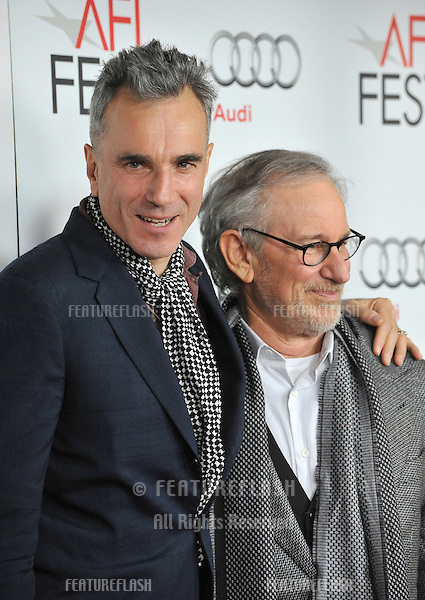 "Daniel Day-Lewis & director Steven Spielberg at the AFI Fest premiere of their movie ""Lincoln"" at Grauman's Chinese Theatre, Hollywood..November 8, 2012  Los Angeles, CA.Picture: Paul Smith / Featureflash"