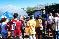 5th Annual Garlic Festival, August 2013 (hosted by The Sharing Farm) at Terra Nova Rural Park, Richmond, BC, British Columbia, Canada - Garlic Lovers attend a Seminar on How to Grow Garlic