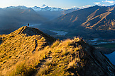 NEW ZEALAND, Wanaka, Looking over to Mount Aspiring National Park from Roy's Peak, Ben M Thomas