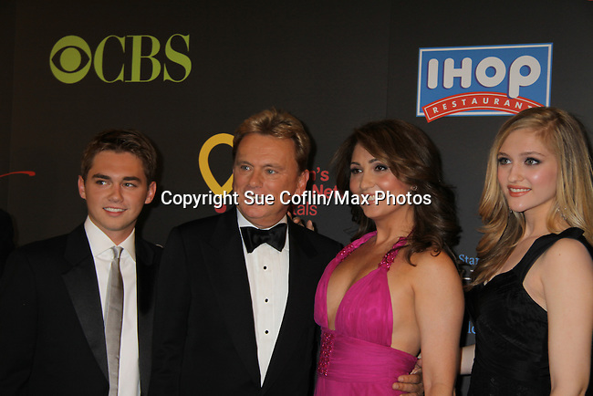 Pat Sajak and family at the 38th Annual Daytime Entertainment Emmy Awards 2011 held on June 19, 2011 at the Las Vegas Hilton, Las Vegas, Nevada. (Photo by Sue Coflin/Max Photos)