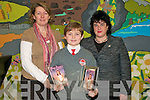 "National Award:  Donagh with teacher Mrs Kaeen Trench and Headmistress Miis Mary O'Connor..Congratulations to Donagh Mc Elligott, 6th class Dromclough N.S., on the prestigious achievement of being chosen as a national winner in the 8th Annual Dear Grace Letter-Writing Competition. This competition, for 5th & 6th classes in Primary Schools, is held in memory of Grace Nolan from Cork who died at 9 years old from HHT... ..55,500 letters were submitted for this very worthwhile and interesting competition. 30 winners were chosen nationally. These 30 letters are published in the ""Dear Grace"" book, which is available commercially as a fundraiser for the foundation... .. ..All of the 6th class pupils and their teacher Mrs. Karen Trench, were invited to the Helix on Thur. 3rd Dec. for the Awards Ceremony. This was an Oscar style event with many celebrities, including Derek Mooney, Brendan O'Carroll, Brian Ormond, Bernard Dunne & Dustin in attendance... ..Donagh received a framed photo of Grace as a memento of the day, an MP3 Player for himself and a computer for the school... .The pupils and teachers had an exciting and memorable day. They also took the opportunity to visit Croke Park before returning home late - tired but elated."