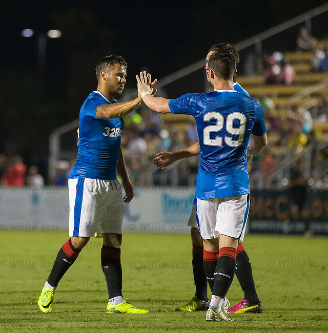 Harry Forrester takes the acclaim after scoring