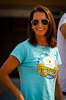 "DEE WHY, Sydney NSW/AUS (Saturday, April 21, 2012) Contest Director Layne Beachley (AUS). The Finals of the 2012 Commonwealth Bank Beachley Classic were completed today with Courtney Conlogue (USA) defeating Malia Manuel (HAW) for her first elite women's tour event win. Both finalist had never made it as far before in an ASP World Tour event. The surf was clean, with two-to-three foot (1.5 meter) waves on offer for the Top 17 female surfers in the world to battle for the richest prize purse on the ASP Womens World Championship Tour.. .Stop No. 4 of 7 on the 2012 ASP Womens World Championship Tour, the Commonwealth Bank Beachley Classic is run by seven-time ASP Womens World Champion Layne Beachley, and is in its seventh year.. .""There are a lot of sevens in my life at the moment,"" Beachley said. ""I'm so proud I've been able to run this event for seven years. I'm really appreciative of the Commonwealth Bank's support and am thrilled with the level of women's surfing. It's Finals day today. We've had a decrease in swell, but the girls are incredible at what they do and I'm sure they'll be able to put on a great show today. I'll be getting in the water later in the day for the celebrity challenge, and the Nikon Expression Session."" .Manuel defeated Stephanie Gilmore (AUS) in the quarterfinals and Conlogue defeated Sally Fitzgibbons (AUS) also in the quarterfinals. Gilmore remains number one on the world tour ratings with Fitzgibbons in second place. Photo: joliphotos.com"
