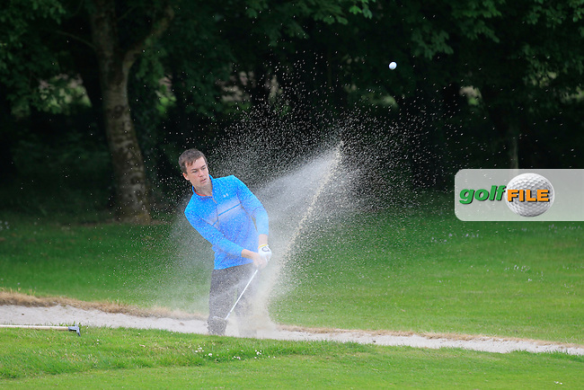 Daragh Coleman (Skerries) plays from a bunker on the 6th during Round 2 of the Irish Boys Amateur Open Championship at Tuam Golf Club on Wednesday 24th June 2015.<br /> Picture:  Thos Caffrey / www.golffile.ie