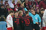 30.11.2019, RheinEnergieStadion, Koeln, GER, 1. FBL, 1.FC Koeln vs. FC Augsburg,<br />  <br /> DFL regulations prohibit any use of photographs as image sequences and/or quasi-video<br /> <br /> im Bild / picture shows: <br /> nach dem Foul an Birger Verstraete (FC Koeln #8), bekommt Philipp Max (FC Augsburg #31),  gelb<br /> <br /> Foto © nordphoto / Meuter