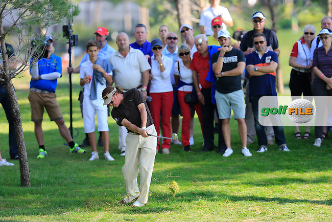 Miguel Angel Jimenez (ESP) during the final round at the Turkish Airlines Open by the Ministry of Youth and Sport, The Montgomerie Maxx Royal, Antalya, Turkey. Picture Fran Caffrey www.golffile.ie