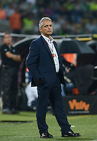 MEDELLIN - COLOMBIA - 16-07-2016: Reinaldo Rueda, técnico de Atletico Nacional, durante partido entre Atletico Nacional y Deportes Tolima, por la fecha 4 de la Liga Águila II 2016 jugado en el estadio Atanasio Girardot de la ciudad de Medellin. / Reinaldo Rueda, coach of Atletico Nacional, during a match between Atletico Nacional and Deportes Tolima, for the date 4 of the Aguila League II 2016 played at Atanasio Girardot stadium in Medellin city. Photo: VizzorImage / León Monsalve /Cont.