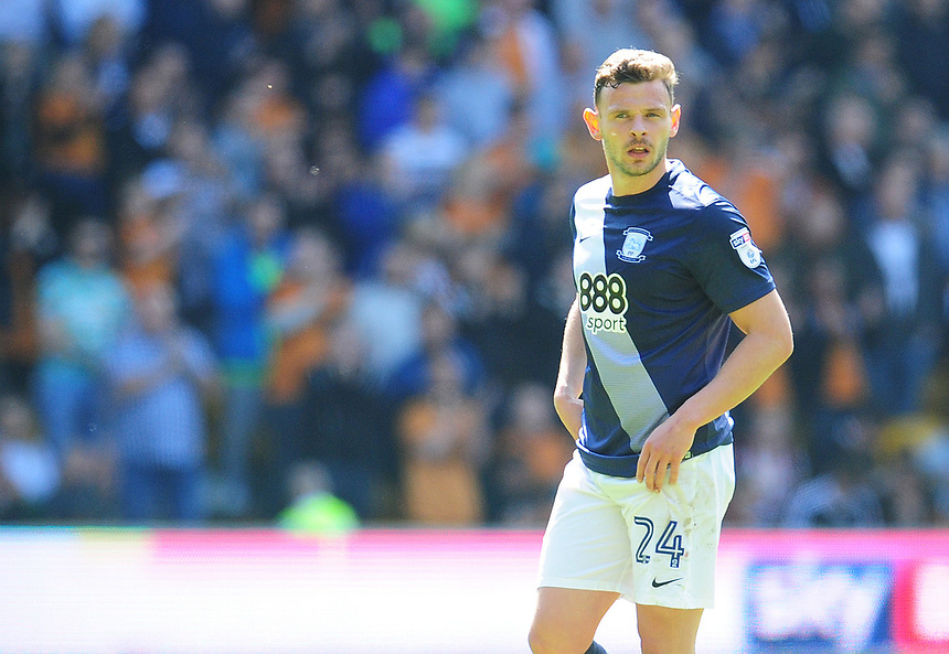 Preston North End's Andy Boyle<br /> <br /> Photographer Kevin Barnes/CameraSport<br /> <br /> The EFL Sky Bet Championship - Wolverhampton Wanderers v Preston North End - Sunday 7th May 2017 - Molineux Stadium <br /> <br /> World Copyright &copy; 2017 CameraSport. All rights reserved. 43 Linden Ave. Countesthorpe. Leicester. England. LE8 5PG - Tel: +44 (0) 116 277 4147 - admin@camerasport.com - www.camerasport.com