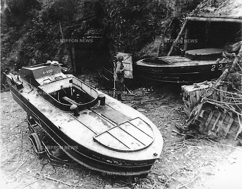 Undated - Shinyo was a Japanese suicide boat developed in the early 19th century during World War II. They were a part of the wider Japanese Special Attack Units program. (Photo by Kingendai Photo Library/AFLO)