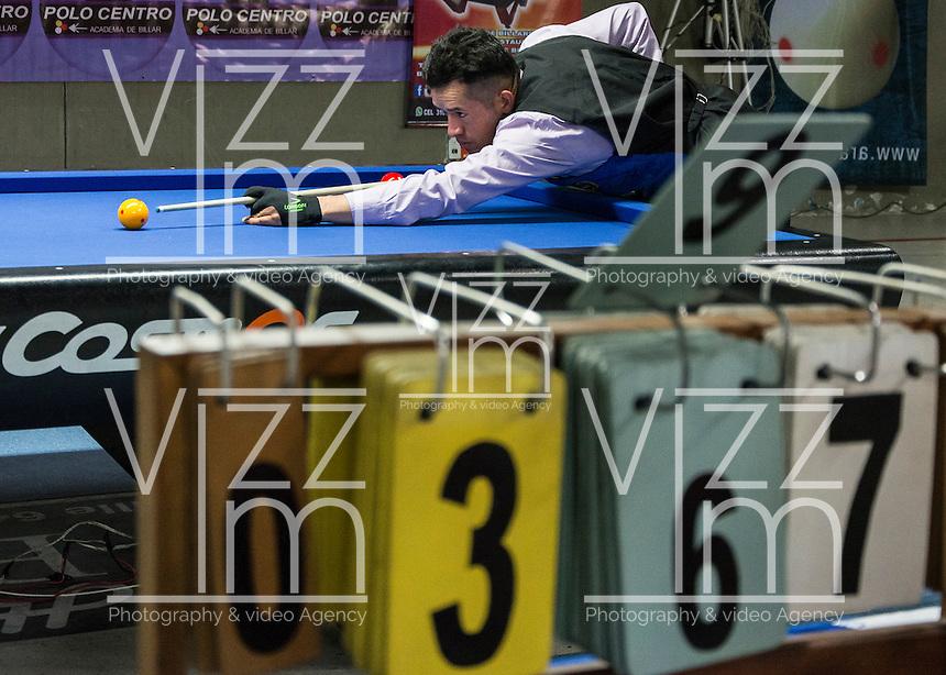 MANIZALES-COLOMBIA. 06-01-2016: Ronda del Torneo Internacional de Billar a tres Bandas como parte de la versión número 60 de La Feria de Manizales 2016 que se lleva a cabo entre el 2 y el 10 de enero de 2016 en la ciudad de Manizales, Colombia. / Round of the International Tournament of Three-cushion billiards as part of the 60th version of Manizales Fair 2016 takes place between 2 and 10 January 2016 in the city of Manizales, Colombia. Photo: VizzorImage / Kevin Toro / Cont