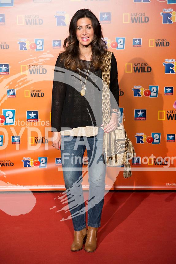 29.03.2014. Kinepolis Cinema. Madrid. Spain. Celebrities attend  ´Rio 2´  Madrid Photocall:  In the image: Nuria Roca.  (C) STAFF/ DyD Fotografos//