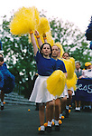 Majorettes stepping it out for the Fleadh Nua parade in Ennis - June 4, 1999. Photograph by John Kelly