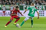 01.12.2018, Weserstadion, Bremen, GER, 1.FBL, Werder Bremen vs FC Bayern Muenchen<br /> <br /> DFL REGULATIONS PROHIBIT ANY USE OF PHOTOGRAPHS AS IMAGE SEQUENCES AND/OR QUASI-VIDEO.<br /> <br /> im Bild / picture shows<br /> Serge Gnabry (FC Bayern Muenchen #22) im Duell / im Zweikampf mit Ludwig Augustinsson (Werder Bremen #05), <br /> <br /> Foto &copy; nordphoto / Ewert