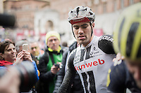 Tom Dumoulin (NED/Sunweb) after crossing the finish line<br /> <br /> 11th Strade Bianche 2017