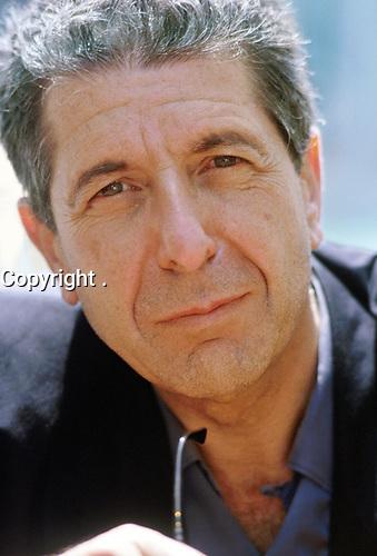 singer-songwriter Leonard Cohen in Venice<br /> 1988<br /> <br /> PHOTO : Gorupdebesanez