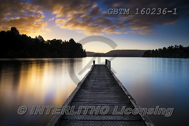 Tom Mackie, LANDSCAPES, LANDSCHAFTEN, PAISAJES, photos,+Lake Mapourika, New Zealand, Tom Mackie, Worldwide, atmosphere, atmospheric, beautiful, cloud, clouds, color, colorful, colou+r, colourful, holiday destination, horizontally, horizontals, jetty, peaceful, restoftheworldgallery, scenery, scenic, sunris+e, sunset, time of day, tourism, tourist attraction, tranquil, tranquility, travel, vacation, water, water's edge, weather,La+ke Mapourika, New Zealand, Tom Mackie, Worldwide, atmosphere, atmospheric, beautiful, cloud, clouds, color, colorful, colour,+,GBTM160236-1,#l#