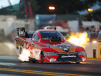Jul 29, 2016; Sonoma, CA, USA; NHRA funny car driver Chad Head during qualifying for the Sonoma Nationals at Sonoma Raceway. Mandatory Credit: Mark J. Rebilas-USA TODAY Sports