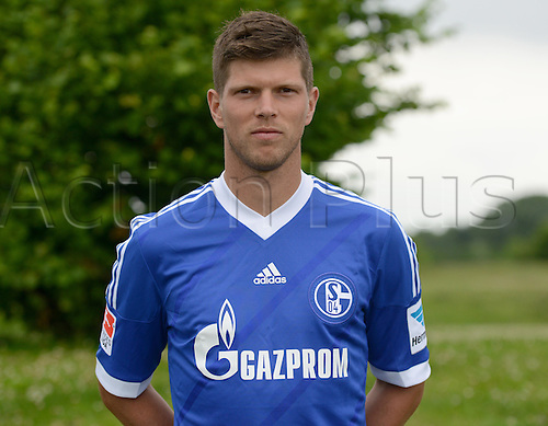 10.07.2013. Gelsenkirchen, Germany.  Player Klaas-Jan Huntelaar of German Bundesliga club FC Schalke 04 during the official photocall for the season 2013-14 on the 10th of July in 2013 at the colliery site Consol in Gelsenkirchen  North Rhine-Westphalia).