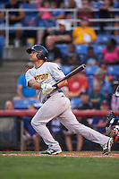 Trenton Thunder catcher Eddy Rodriguez (19) at bat during a game against the Binghamton Mets on August 8, 2015 at NYSEG Stadium in Binghamton, New York.  Trenton defeated Binghamton 4-2.  (Mike Janes/Four Seam Images)