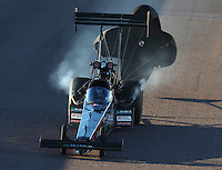Feb 24, 2017; Chandler, AZ, USA; NHRA top fuel driver Scott Palmer during qualifying for the Arizona Nationals at Wild Horse Pass Motorsports Park. Mandatory Credit: Mark J. Rebilas-USA TODAY Sports