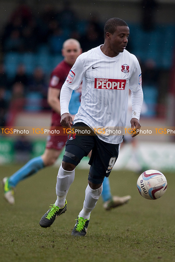 Kevin Lisbie (Leyton Orient). - Scunthorpe United vs Leyton Orient - NPower League One Football at Glanford Park - 29/03/13 - MANDATORY CREDIT: Mark Hodsman/TGSPHOTO - Self billing applies where appropriate - 0845 094 6026 - contact@tgsphoto.co.uk - NO UNPAID USE.