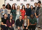 """The cast featuring Noah Galvin, Nkeki Obi-Melekwe, Natalie Walker, Molly Gordon, Colton Ryan, Mia DiLena, Andrew Kober, Heath Saunders, Zachary Downer, Zachary Infante, Wesley Taylor, Catharine Ricafort, and Kyle Sherman attends the Photo Call for the MCC Theater's World Premiere production of """"Alice by Heart"""" at the New 42nd Street Studios on December 17, 2018 in New York City."""