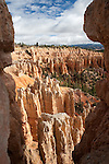"view thru the ""window"" of a hoodoo - Fairyland Loop"