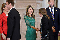 Princess Letizia of Spain receives International Olympic Committee Evaluation Commission Team for a dinner at the Royal Palace.March 20,2013. (ALTERPHOTOS/Pool) /NortePhoto