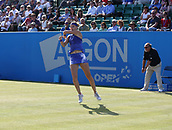 June 16th 2017, Nottingham, England;WTA Aegon Nottingham Open Tennis Tournament day 5;  Lucie Safarova of Czech Republic in action in her match against Tsvetana Pironkova of Bulgaria