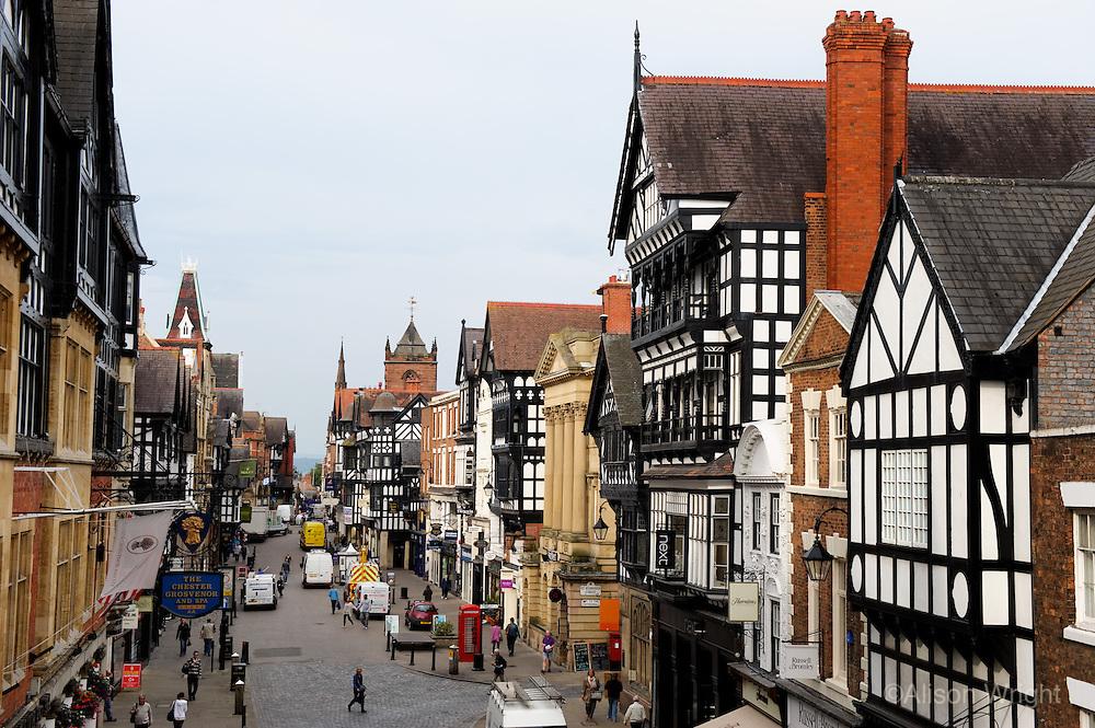 Tudor style shops