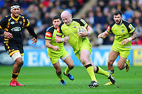 Dan Cole of Leicester Tigers goes on the attack. Aviva Premiership match, between Wasps and Leicester Tigers on January 8, 2017 at the Ricoh Arena in Coventry, England. Photo by: Patrick Khachfe / JMP