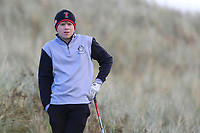 Joshua Robinson (Lisburn) on the 11th tee during Round 3 of the Ulster Boys Championship at Portrush Golf Club, Portrush, Co. Antrim on the Valley course on Thursday 1st Nov 2018.<br />