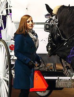 www.acepixs.com<br /> <br /> January 31 2017, New York City<br /> <br /> Actress Jessica Chastain (with Manhattan horse 'Bonnie') was on the midtown Manhattan set of the new movie 'Molly's Game' on January 31 2017 in New York City<br /> <br /> By Line: Zelig Shaul/ACE Pictures<br /> <br /> <br /> ACE Pictures Inc<br /> Tel: 6467670430<br /> Email: info@acepixs.com<br /> www.acepixs.com