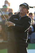 February 1st 2019, Scotsdale, Arizona, USA; Phil Mickelson tees off on the tenth hole at the second round of the Waste Management Phoenix Open  at TPC Scottsdale in Scottsdale, Arizona.