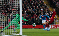 Napoli's Dries Mertens scores the opening goal<br /> <br /> Photographer Alex Dodd/CameraSport<br /> <br /> UEFA Champions League Group E - Liverpool v Napoli - Wednesday 27th November 2019 - Anfield - Liverpool<br />  <br /> World Copyright © 2018 CameraSport. All rights reserved. 43 Linden Ave. Countesthorpe. Leicester. England. LE8 5PG - Tel: +44 (0) 116 277 4147 - admin@camerasport.com - www.camerasport.com